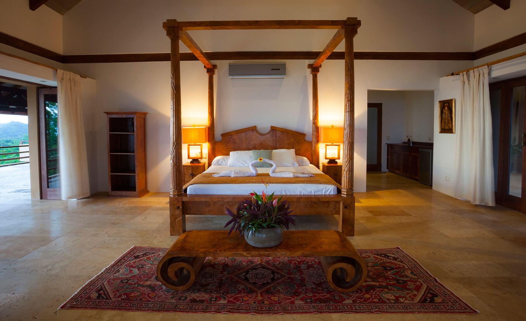 costa rica private villa bedrooms