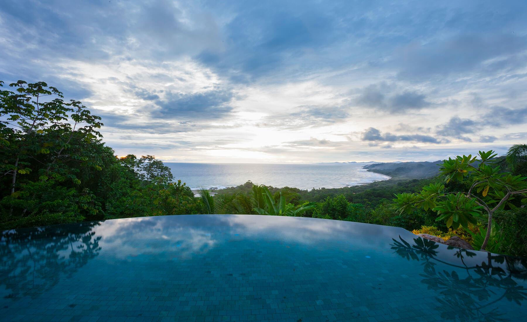 costa rica private villa pool view