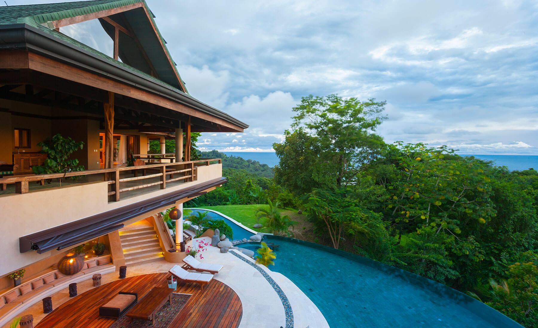 costa rica private villa pool