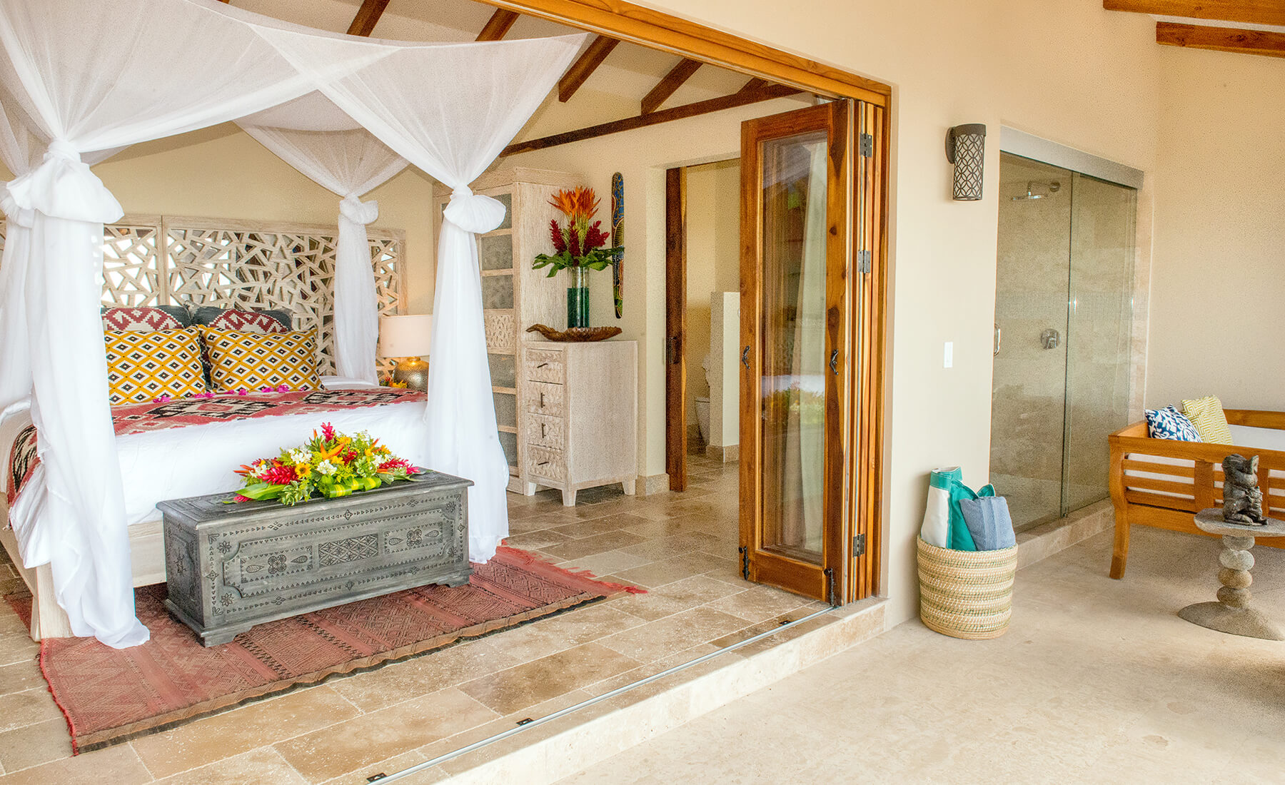 Costa-Rica-Villa-terrace-view-on-bedroom